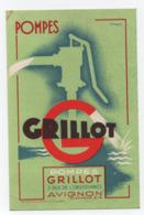 AVIGNON(84) - Publicité Pompes GRILLOT - Accusé Réception Au Verso - - Publicité