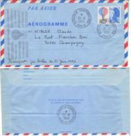 FRANCE Aérogramme 1010 1983 Bicentenaire Transport Exceptionnel Ballon Le Megeve Hennequet Fontaine [GR] - Fesselballons