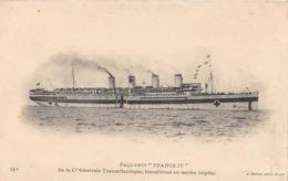 """Paquebot - """"FRANCE IV"""" - Compagnie Transatlantique, Transformé En Navire Hôpital - Bateau - Paquebots"""