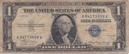 BILLETE DE ESTADOS UNIDOS DE 1 DOLLAR DEL AÑO 1935 LETRA A-A WASHINGTON  (BANK NOTE) - Billetes De La Reserva Federal (1928-...)