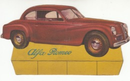 AUTO CAR VOITURE ALFA ROMEO 6C - CARTONCINO PUBBLICITARIO ANNI '60? - Pubblicitari
