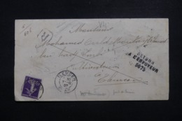 FRANCE / ALGÉRIE - Enveloppe En Recommandé De Tlemcen Pour Tlemcen Et Retour En 1907, Affranchissement Semeuse - L 45157 - 1877-1920: Periodo Semi Moderno
