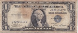BILLETE DE ESTADOS UNIDOS DE 1 DOLLAR DEL AÑO 1935 B LETRA J-D WASHINGTON  (BANK NOTE) - Biljetten Van De  Federal Reserve (1928-...)