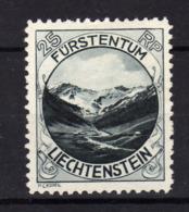 LIECHTENSTEIN 1930 Yv 98 MLH * - Unused Stamps