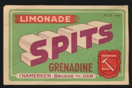 BRUGGE  LIMONADE  SPITS GRENADINE T'HAMERKEN - Autres