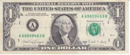 BILLETE DE ESTADOS UNIDOS DE 1 DOLLAR DEL AÑO 1988 A LETRA A BOSTON  (BANK NOTE) - Biljetten Van De  Federal Reserve (1928-...)