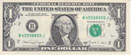 BILLETE DE ESTADOS UNIDOS DE 1 DOLLAR DEL AÑO 1988 A LETRA B NEW YORK  (BANK NOTE) - Biljetten Van De  Federal Reserve (1928-...)