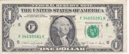BILLETE DE ESTADOS UNIDOS DE 1 DOLLAR DEL AÑO 1988 A LETRA F ATLANTA  (BANK NOTE) - Biljetten Van De  Federal Reserve (1928-...)
