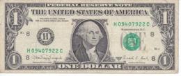 BILLETE DE ESTADOS UNIDOS DE 1 DOLLAR DEL AÑO 1988 A LETRA H ST. LOUIS (BANK NOTE) - Biljetten Van De  Federal Reserve (1928-...)
