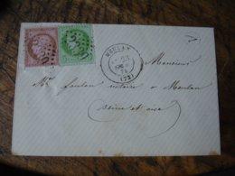 Yt 53 Et 54 Ceres 5 C Vert Et 10 C Rose Meulan Obliteration Gros Chiffre 2339 Sur Lettre - Postmark Collection (Covers)