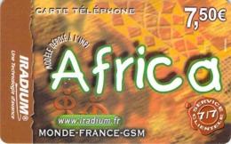 Carte Prépayée - IRADIUM - AFRICA  -  7.5 € - Francia