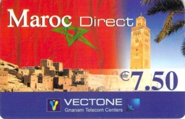 Carte Prépayée - VECTONE MAROC DIRECT  -  7.5 € - Frankrijk