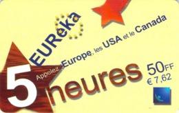 Carte Prépayée - EUREKA   -  50 F - Andere Voorafbetaalde Kaarten
