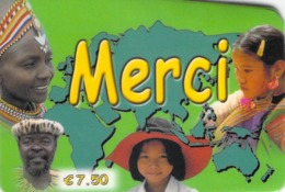 Carte Prépayée - MERCI  -    7.5 € - Andere Voorafbetaalde Kaarten