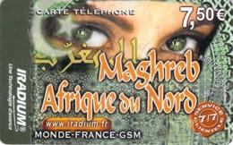 Carte Prépayée - IRADIUM MAGHREB -    7.5 € - Frankrijk