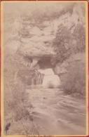 Photographie  XIX E Doubs Nans Sous Saint Anne La Source Du Lison ( Ref 191136 ) - Luoghi