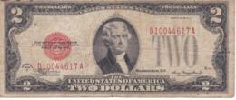 BILLETE DE ESTADOS UNIDOS DE 2 DOLLARS DEL AÑO 1928 D  (BANK NOTE) - Biljetten Van De  Federal Reserve (1928-...)