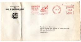 GARONNE / Haute - Dépt N° 31 = BAGNERES De LUCHON 1971 = EMA  Illustrée = ' CENTRE TOURISME ' + MAIRIE - EMA (Empreintes Machines à Affranchir)