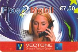 Carte Prépayée - FIXE 2 MOBIL - VECTONE - 7.5 € - Francia