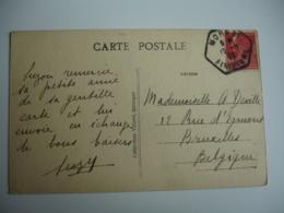 Morgat Recette Auxiliaire Cachet Hexagonal Obliteration Sur Lettre - Storia Postale