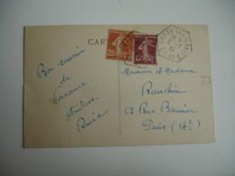 Craon C P 9 Recette Auxiliaire Cachet Hexagonal Obliteration Sur Lettre - 1921-1960: Modern Period