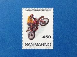 1984 SAN MARINO FRANCOBOLLO NUOVO STAMP NEW MNH** Campionato Mondiale Motocross - Nuovi