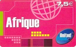 Carte Prépayée - UNITED PHONE AFRIQUE  -  7.5 € - Andere Voorafbetaalde Kaarten