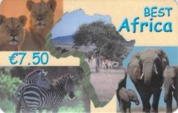 Carte Prépayée - BEST AFRICA  -  7.5 € - Andere Voorafbetaalde Kaarten