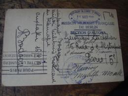 Etat Major 2 Eme Bureau Section Des Courriers Exterieurs Occupation Allemagne  Cachet Censure Militaire Guerre 14.18 - Marcofilie (Brieven)