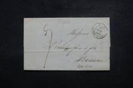 """FRANCE  / ALGÉRIE - Oblitération """" Poss. D'Afr. """" Sur Lettre Pour La France En 1838 - L 45176 - Poststempel (Briefe)"""