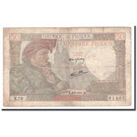 France, 50 Francs, Jacques Coeur, 1941, 1941-05-08, B+, Fayette:19.10, KM:93 - 1871-1952 Antichi Franchi Circolanti Nel XX Secolo
