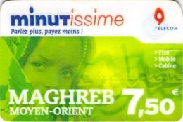 Carte Prépayée - MINITISSIME MAGHREB - 7.5 € - Francia