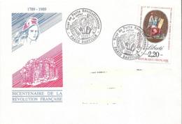 France, Enveloppe, Cachet Paris Bastille, Révolution, Timbre Liberté - Franz. Revolution
