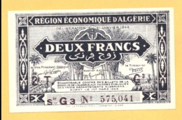 Algerie 2 Francs NEUF - UNC, Series Letter G, P. 102 - Algeria