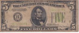 BILLETE DE ESTADOS UNIDOS DE 5 DOLLARS DEL AÑO 1934 LETRA B NEW YORK  (BANK NOTE) - Biljetten Van De  Federal Reserve (1928-...)