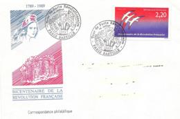 France, Enveloppe, Cachet Paris Bastille, Révolution, Timbre Folon - Franz. Revolution