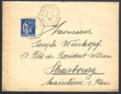 LETTRE EN PROVENANCE DE BEBLENHEIM - HAUT-RHIN - 1939 - - Lettres & Documents