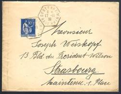 LETTRE EN PROVENANCE DE BEBLENHEIM - HAUT-RHIN - 1939 - - Francia