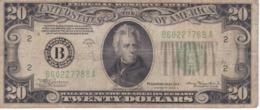 BILLETE DE ESTADOS UNIDOS DE 20 DOLLARS DEL AÑO 1934 A LETRA B NEW YORK  (BANK NOTE) - Biljetten Van De  Federal Reserve (1928-...)