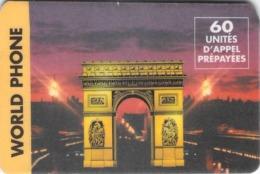 Carte Prépayée - WORLD PHONE  -  60 UNITES - France
