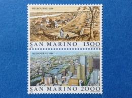 1984 SAN MARINO FRANCOBOLLI NUOVI STAMPS NEW MNH** MELBOURNE VEDUTE DITTICO - Unused Stamps