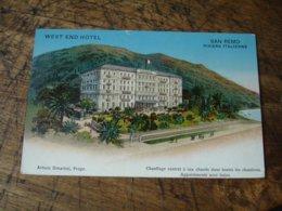 West End Hotel San Remo Carte Illustrateur - Hotels & Restaurants