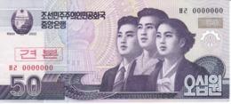 SPECIMEN - BILLETE DE COREA DEL NORTE DE 50 WON DEL AÑO 2002 (BANKNOTE) SIN CIRCULAR-UNCIRCULATED - Corea Del Norte