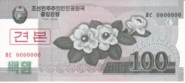 SPECIMEN - BILLETE DE COREA DEL NORTE DE 100 WON DEL AÑO 2008 (BANKNOTE) SIN CIRCULAR-UNCIRCULATED - Corea Del Norte