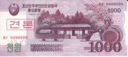 SPECIMEN - BILLETE DE COREA DEL NORTE DE 1000 WON DEL AÑO 2008 (BANKNOTE) SIN CIRCULAR-UNCIRCULATED - Corea Del Norte