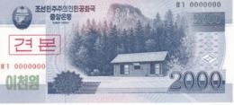 SPECIMEN - BILLETE DE COREA DEL NORTE DE 2000 WON DEL AÑO 2008 (BANKNOTE) SIN CIRCULAR-UNCIRCULATED - Corea Del Norte
