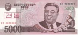 SPECIMEN - BILLETE DE COREA DEL NORTE DE 5000 WON DEL AÑO 2008 (BANKNOTE) SIN CIRCULAR-UNCIRCULATED - Corea Del Norte
