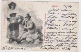 Roma, Costumi, Ciociara E Capraio  - F.p. - Fine '1800 - Roma
