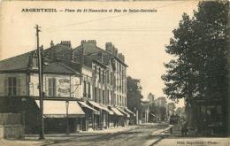 VAL D'OISE  ARGENTEUIL  Place Du 11 Novembre Et Rue Saint Germain - Argenteuil