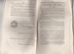 Bulletin Des Lois N°1440 De 1847 Ordonnance Convention Poste Entre France Et Prusse - 48 Pages - Postmark Collection (Covers)